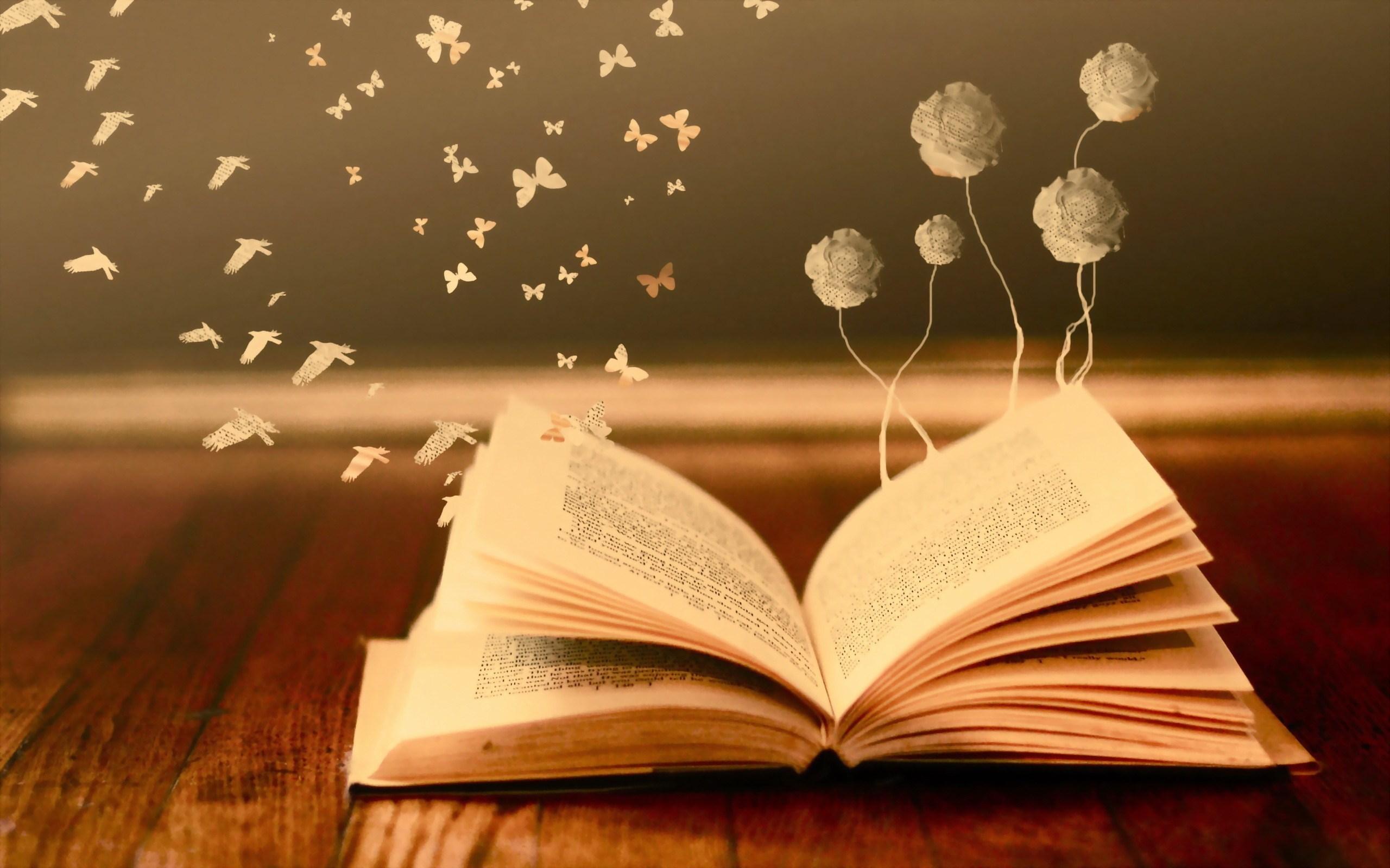 book-butterflies-birds-flowers-creative-hd-wallpaper